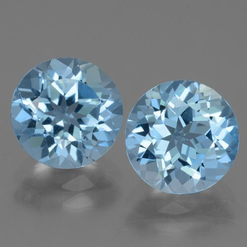 Swiss Blue Topaz Gem - 3.3ct Round Facet (ID: 440007)