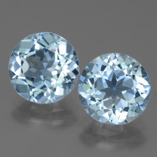 Swiss Blue Topaz Gem - 3.1ct Round Facet (ID: 440008)