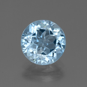 Sky Blue Topaz Gem - 3.2ct Round Facet (ID: 440054)