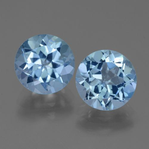 Swiss Blue Topaz Gem - 3.4ct Round Facet (ID: 440071)
