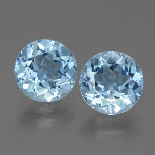 Maya Blue Topaz Gem - 3.2ct Round Facet (ID: 440075)