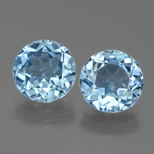 Sky Blue Topaz Gem - 3.2ct Round Facet (ID: 440080)