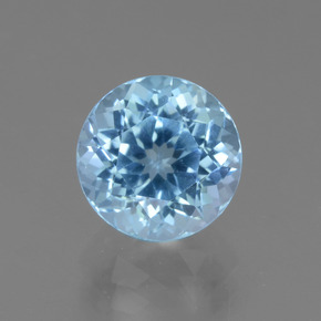 3.9ct Round Facet Swiss Blue Topaz Gem (ID: 440125)