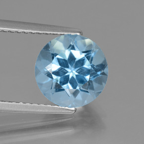 Swiss Blue Topaz Gem - 3.2ct Round Facet (ID: 440155)