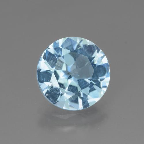 Swiss Blue Topaz Gem - 2.9ct Round Facet (ID: 440246)
