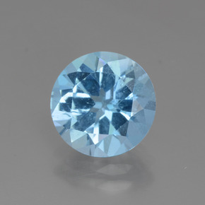 Swiss Blue Topaz Gem - 3.1ct Round Facet (ID: 440247)