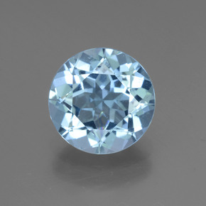 Swiss Blue Topaz Gem - 3.3ct Round Facet (ID: 440298)