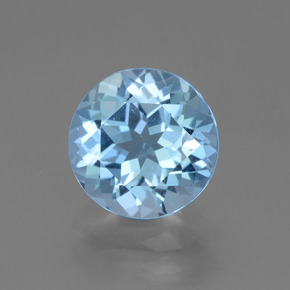 Baby Blue Topaz Gem - 3.6ct Round Facet (ID: 440302)