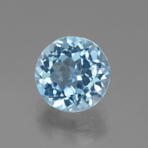 Swiss Blue Topaz Gem - 3.5ct Round Facet (ID: 440342)