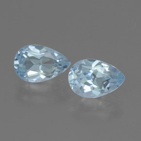 Swiss Blue Topaz Gem - 1.8ct Pear Facet (ID: 441946)