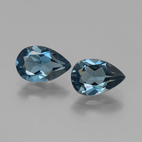 thumb image of 2.9ct Pear Facet London Blue Topaz (ID: 441973)