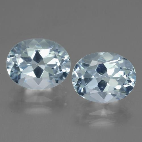 Sky Blue Topaz Gem - 3.3ct Oval Facet (ID: 442142)