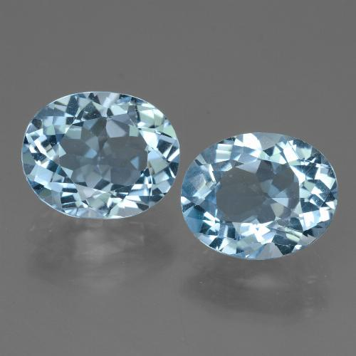 Swiss Blue Topaz Gem - 3.4ct Oval Facet (ID: 442148)