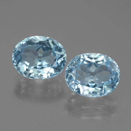 Sky Blue Topaz Gem - 3.7ct Oval Facet (ID: 442152)