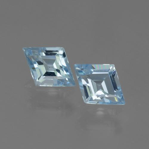 Swiss Blue Topaz Gem - 0.7ct Rhomb Facet (ID: 442203)