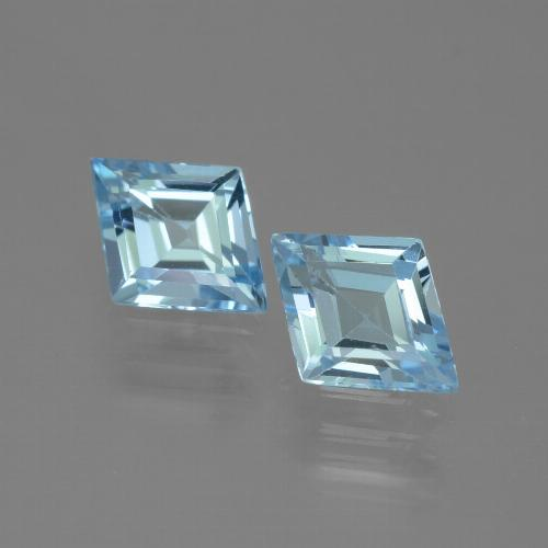 Swiss Blue Topaz Gem - 0.8ct Rhomb Facet (ID: 442206)