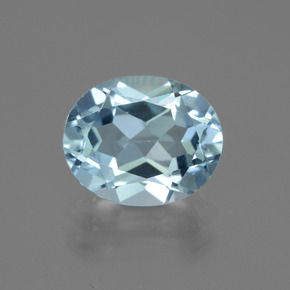 Sky Blue Topaz Gem - 4.4ct Oval Facet (ID: 442408)