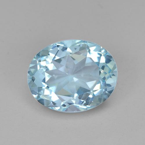 Baby Blue Topaz Gem - 3.6ct Oval Facet (ID: 442417)