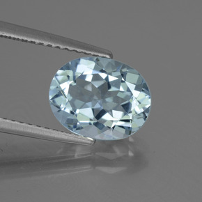 Sky Blue Topaz Gem - 3.5ct Oval Facet (ID: 442418)