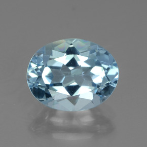 Sky Blue Topaz Gem - 3.1ct Oval Facet (ID: 442480)
