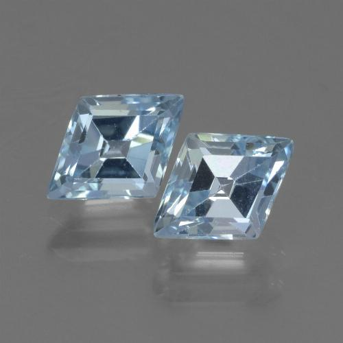 Swiss Blue Topaz Gem - 1ct Rhomb Facet (ID: 442574)