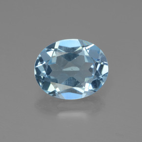 Sky Blue Topaz Gem - 3.7ct Oval Facet (ID: 442651)
