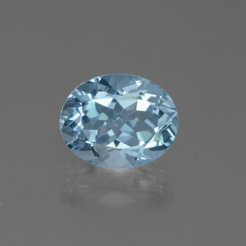Sky Blue Topaz Gem - 3.5ct Oval Facet (ID: 442652)