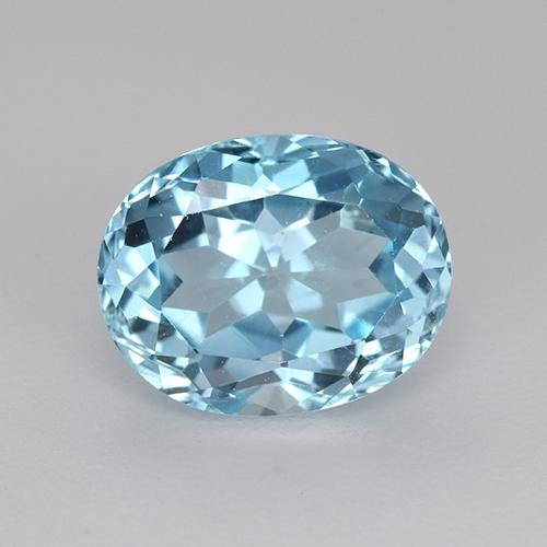 Swiss Blue Topaz Gem - 3.4ct Oval Facet (ID: 442653)
