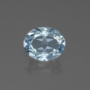 Sky Blue Topaz Gem - 3ct Oval Facet (ID: 442662)