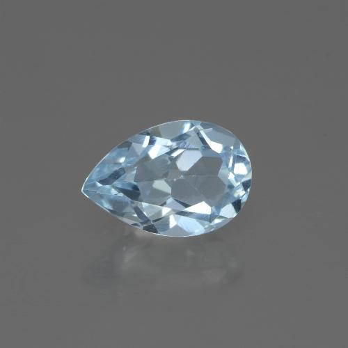 Swiss Blue Topaz Gem - 1.6ct Pear Facet (ID: 442675)