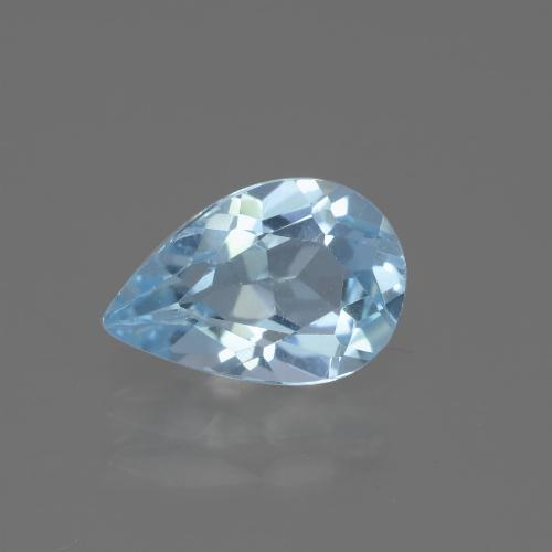 Light Blue Topaz Gem - 1.6ct Pear Facet (ID: 442682)