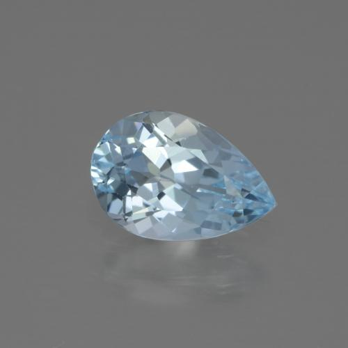 Swiss Blue Topaz Gem - 1.6ct Pear Facet (ID: 442684)
