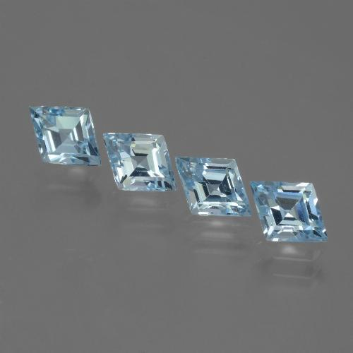 Sky Blue Topaz Gem - 0.8ct Rhomb Facet (ID: 442700)