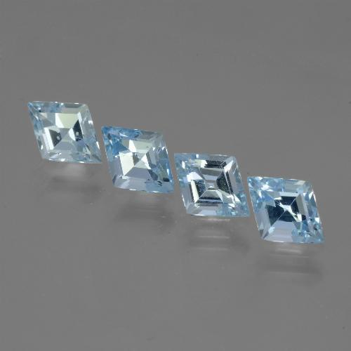 Swiss Blue Topaz Gem - 0.9ct Rhomb Facet (ID: 442704)