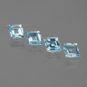Swiss Blue Topaz Gem - 0.7ct Rhomb Facet (ID: 442706)