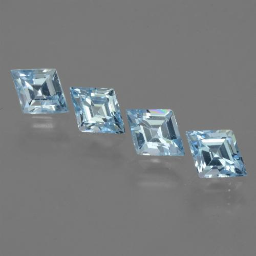 Baby Blue Topaz Gem - 0.8ct Rhomb Facet (ID: 442707)