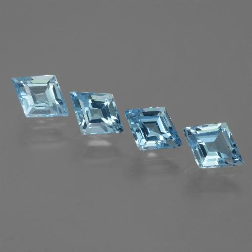 Swiss Blue Topaz Gem - 0.9ct Rhomb Facet (ID: 442708)