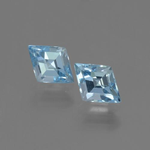 Swiss Blue Topaz Gem - 1ct Rhomb Facet (ID: 442710)