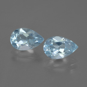 Baby Blue Topaz Gem - 1.5ct Pear Facet (ID: 442736)