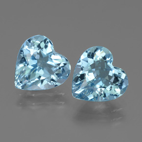 Swiss Blue Topaz Gem - 2.8ct Heart Facet (ID: 442844)