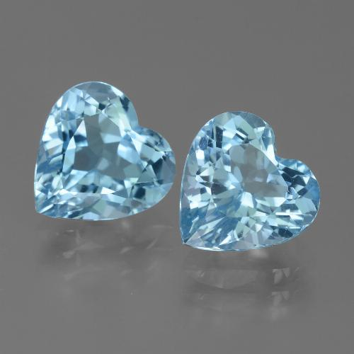Baby Blue Topaz Gem - 3.1ct Heart Facet (ID: 442851)