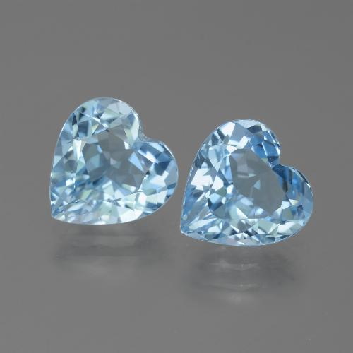 Swiss Blue Topaz Gem - 2.9ct Heart Facet (ID: 442869)