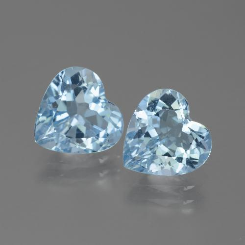 Baby Blue Topaz Gem - 2.9ct Heart Facet (ID: 442870)