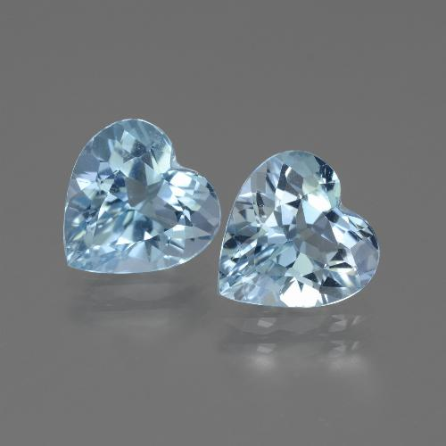 Swiss Blue Topaz Gem - 2.7ct Heart Facet (ID: 442871)