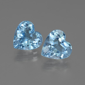 Swiss Blue Topaz Gem - 2.5ct Heart Facet (ID: 442872)