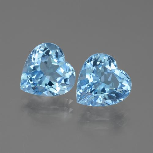 3.1ct Heart Facet Sky Blue Topaz Gem (ID: 442874)