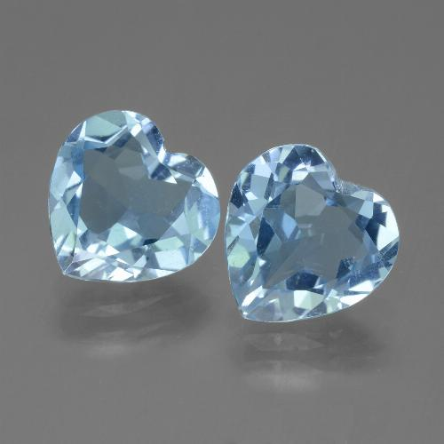 Swiss Blue Topaz Gem - 2.8ct Heart Facet (ID: 442915)
