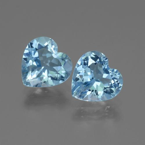 Swiss Blue Topaz Gem - 2.7ct Heart Facet (ID: 442916)