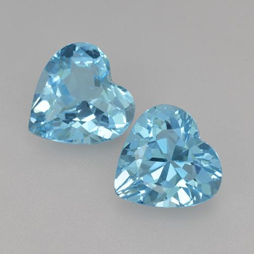 Swiss Blue Topaz Gem - 2.6ct Heart Facet (ID: 442920)