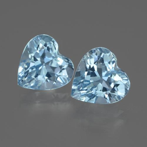 3.1ct Heart Facet Sky Blue Topaz Gem (ID: 442960)